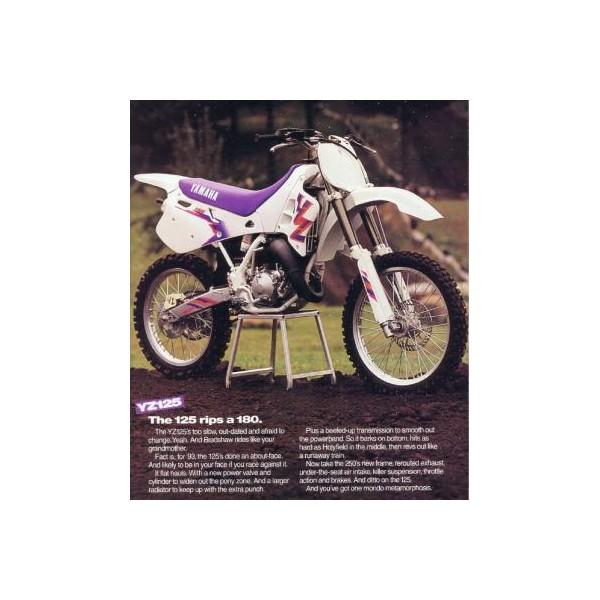 Housse Yamaha 125 250 Yz 1993 A 1995 Old Mx